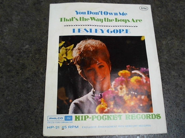 LESLEY GORE - HIP-POCKET RECORDS