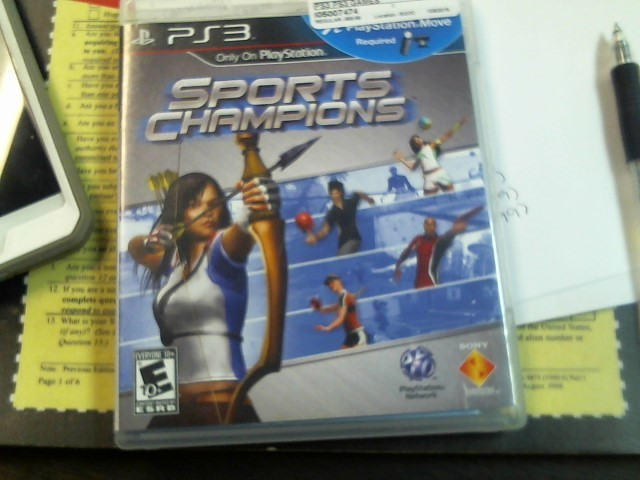SONY PS3 GAME - SPORTS CHAMPION