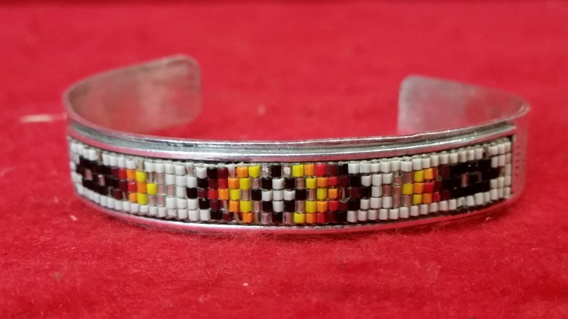 Native American Indian Silver Bracelet 925 21.05g