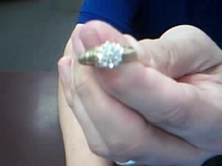 Lady's Diamond Cluster Ring 18 Diamonds .36 Carat T.W. 10K Yellow Gold 3.2g