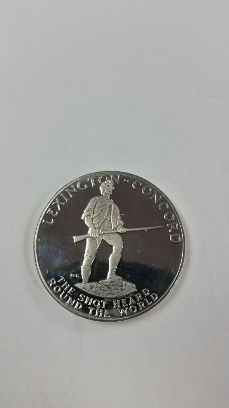 1975 Paul Revere Commemorative Medal Lexington Concord w/ Box