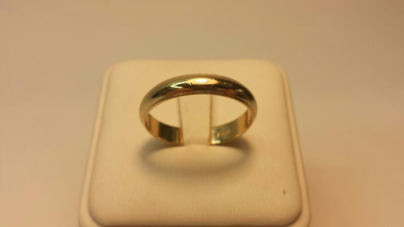 14k Caved Band 2.8dwt Size 11