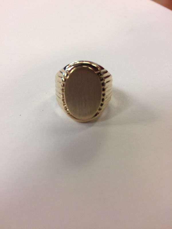 Gent's Gold Ring 14K Yellow Gold 8g Size:8
