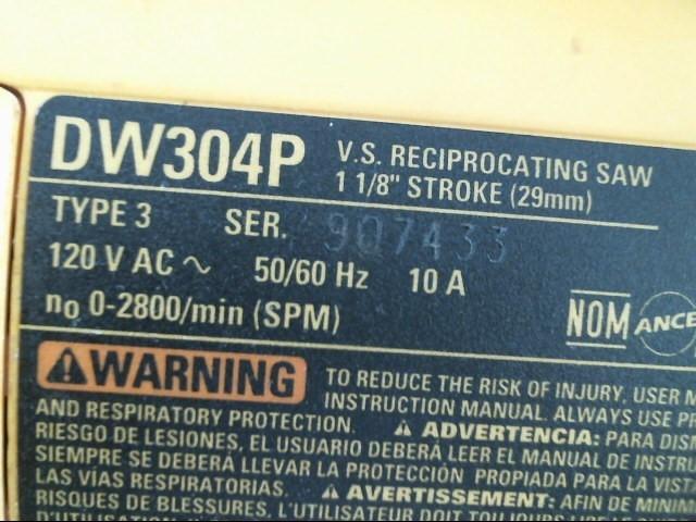 Reciprocating Saw DW304P