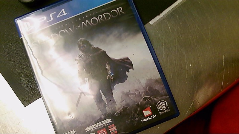 SONY PS4 GAME MIDDLE EARTH SHADOW OF MORDOR