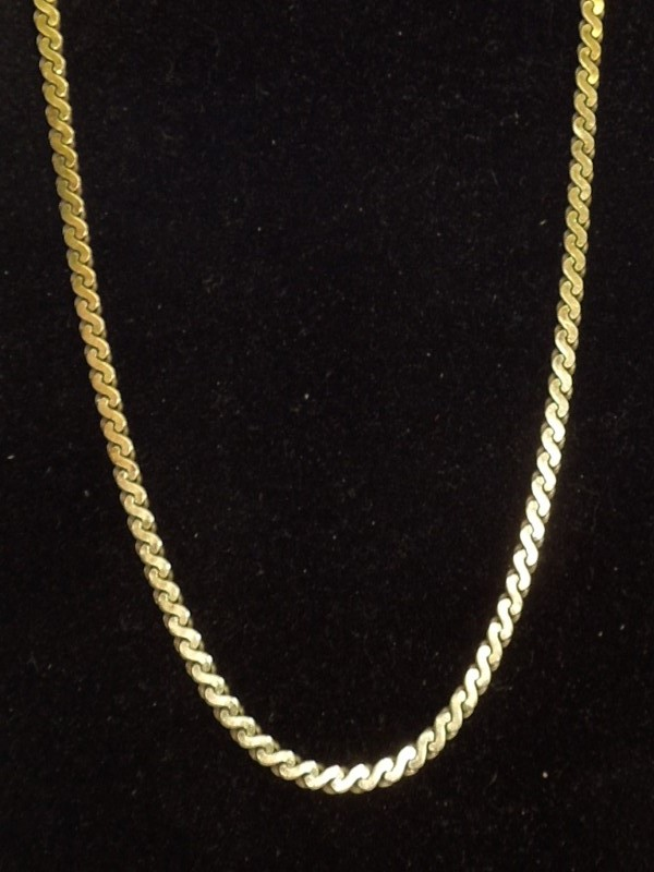 "20"" Gold Serpentine Chain 14K Yellow Gold 11g"