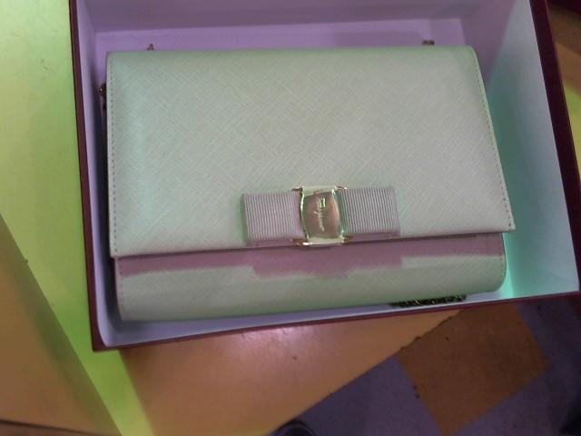 SALVATORE FERRAGAMO Handbag WOVEN BROWN BAG