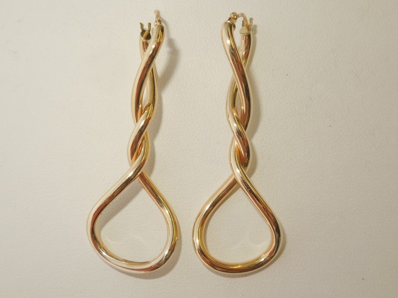 Gold Earrings 14K Yellow Gold 2.5g