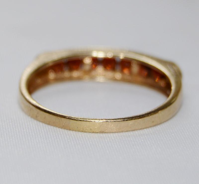 Almandite Garnet Lady's Stone Ring 10K Yellow Gold