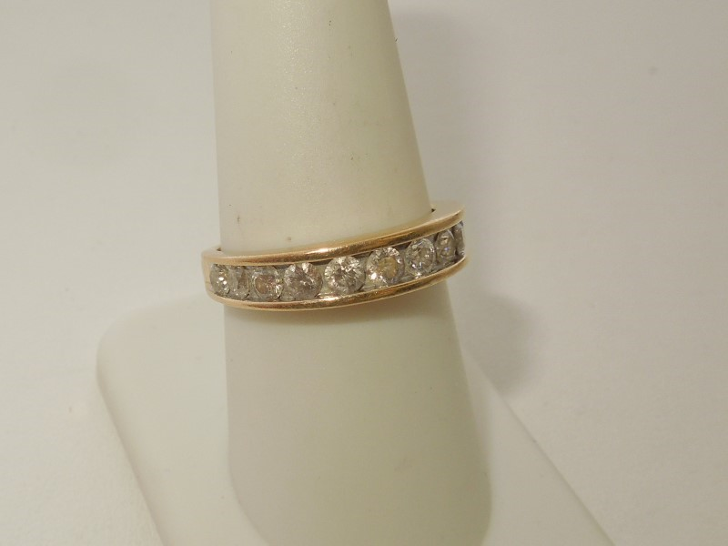 Lady's Diamond Wedding Band 11 Diamonds .77 Carat T.W. 14K Yellow Gold 3.2g