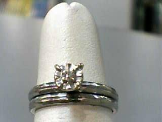 Lady's Diamond Wedding Set .02 CT. 14K White Gold 2.6dwt Size:6