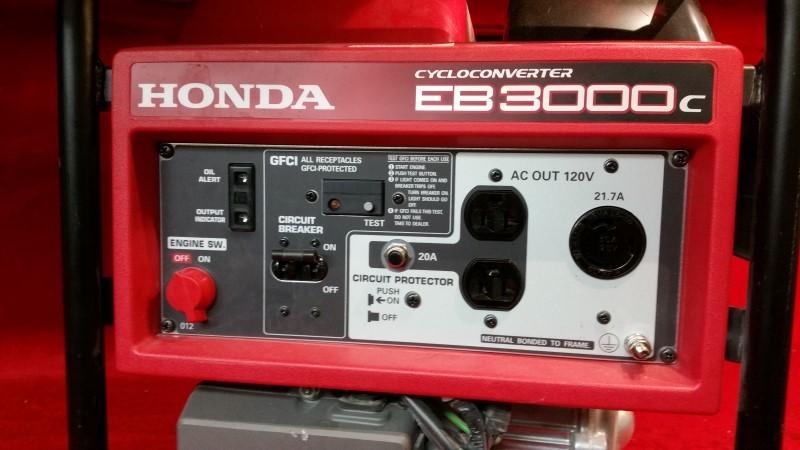 Honda Power Equipment EB3000C 3000W Portable Gas Powered Industrial Generator