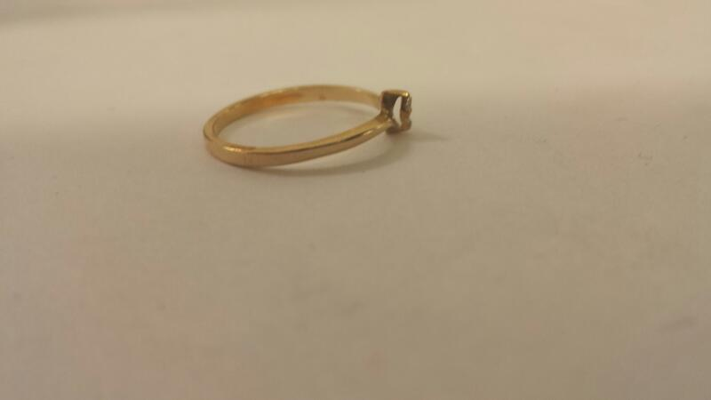 14K-Y/G Two Diamond Engagement Ring
