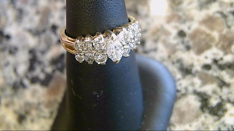 Lady's Diamond Cluster Ring 7 Diamonds .58 Carat T.W. 14K Yellow Gold 3.6g