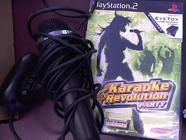 SONY PS2 KAROKE WITH MIC.