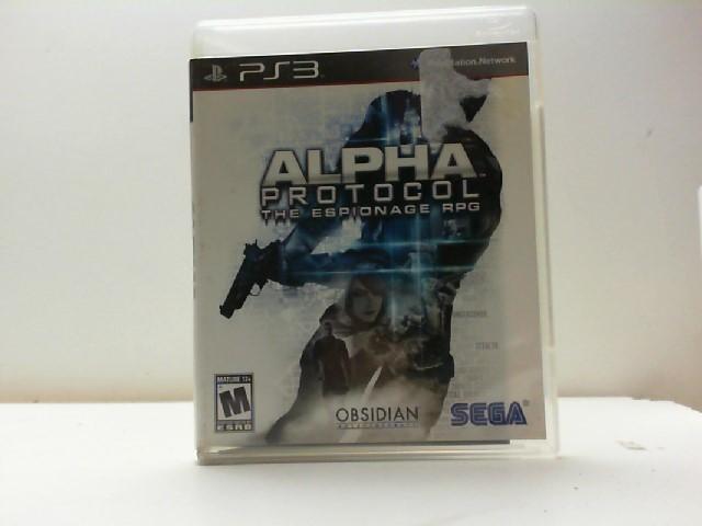 SONY Sony PlayStation 3 Game ALPHA PROTOCOL