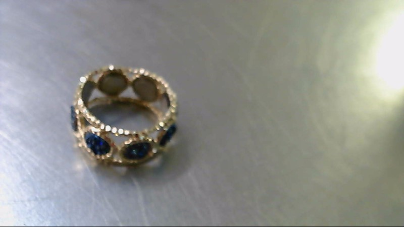 Blue Stone Lady's Stone Ring 14K Yellow Gold 2.56g