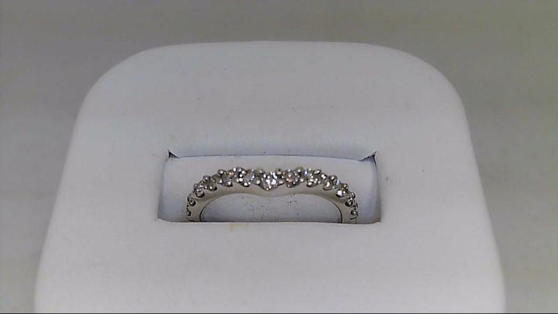 Lady's Diamond Wedding Band 13 Diamonds .39 Carat T.W. 14K White Gold 1.73g