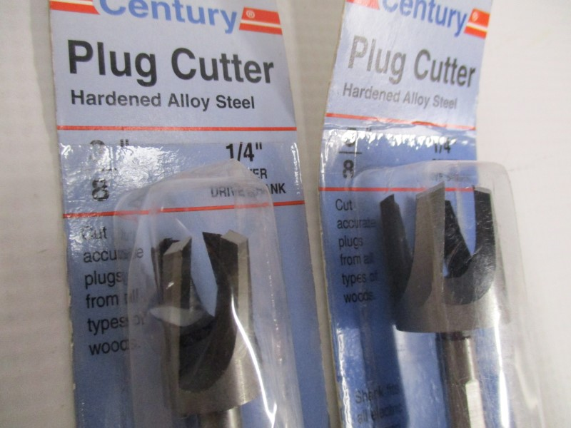 LOT OF 2 CENTURY PLUG CUTTERS