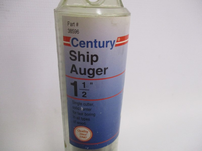 "CENTURY 38596 SHIP AUGER 1-1/2"" SINGLE CUTTER"
