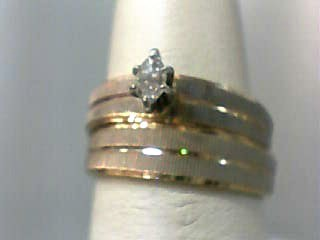 Lady's Diamond Wedding Set .18 CT. 14K 2 Tone Gold 3.7dwt Size:6