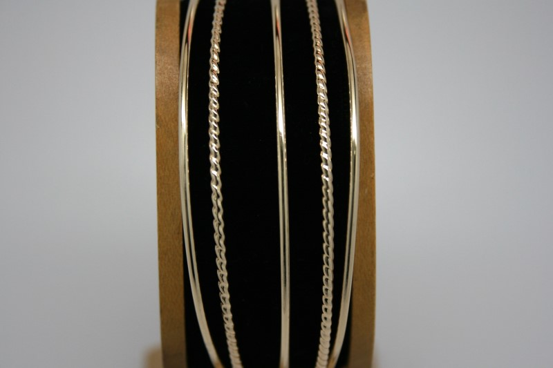 5 BANGLE FASHION DESIGN BRACELET 14K YELLOW GOLD