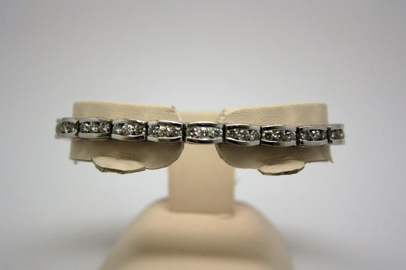 DIAMOND TENNNIS BRACELET 14K WHITE GOLD