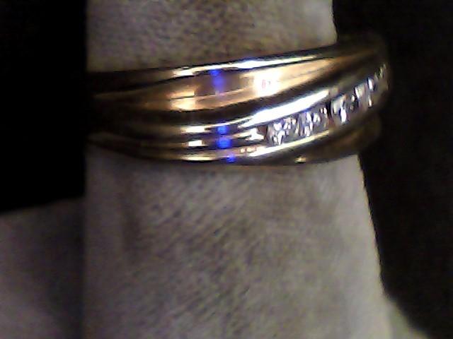 Gent's Gold-Diamond Wedding Band 5 Diamonds .19 Carat T.W. 14K Yellow Gold