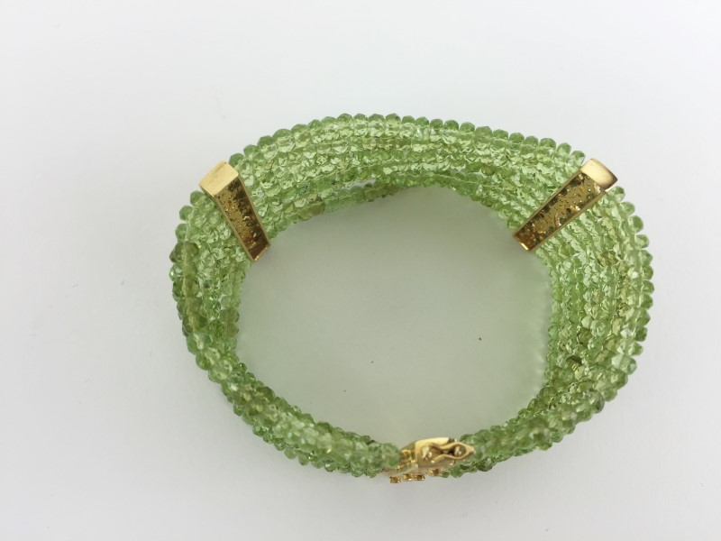Peridot & Diamond  Bracelet 120 Diamonds 1.20 Carat T.W.