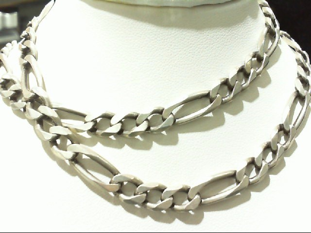 Silver Figaro Chain 925 Silver 29.8g