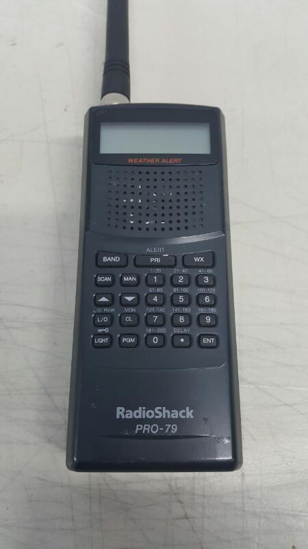 Radio Shack Pro-79 Handheld Scanner 200 Channel UHF/VHF/Air ,Weather