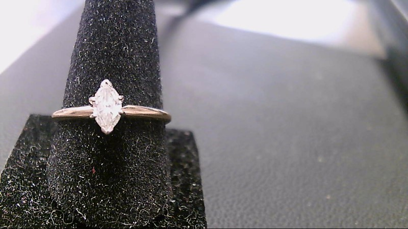 Lady's Diamond Solitaire Ring .50 CT. 14K Yellow Gold 2g