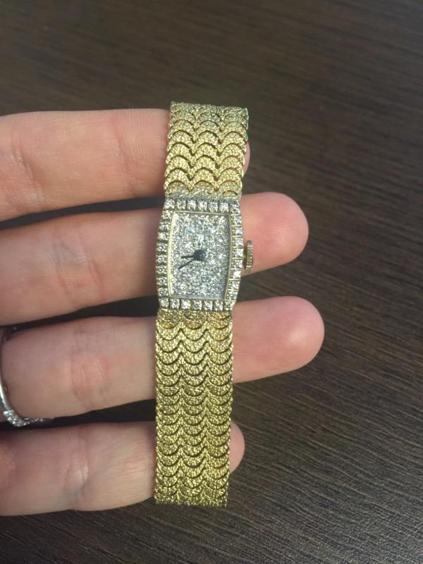 LONGINES-WITTNAUER Lady's Wristwatch 15803 Diamonds Dial&Bezel