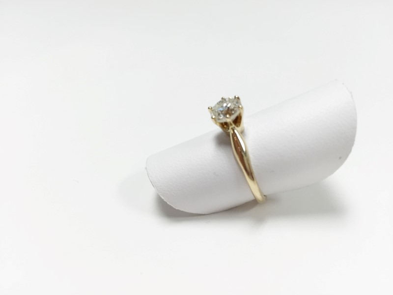 DIAMOND SOLITAIRE RING 1.06 CT. 14K YELLOW GOLD 2.3G W EGL CERT SZ 6.5