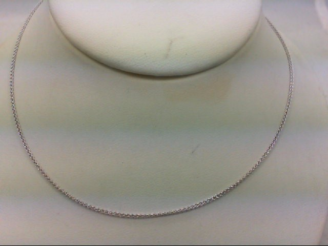"16"" Gold Link Chain 14K White Gold 2.7g"