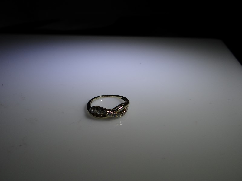 Lady's Diamond Fashion Ring 11 Diamonds .11 Carat T.W. 10K Yellow Gold 1.24g