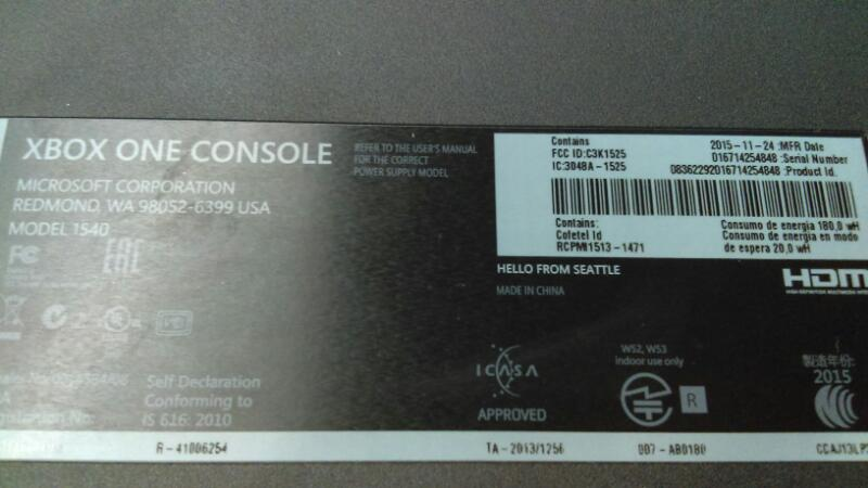 XBOX ONE 500GB BLK (M#1540)