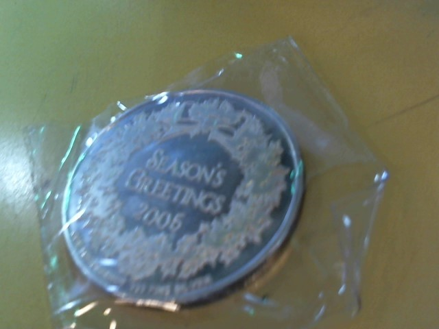 Silver Bullion 1 OZ .999 SILVER RND - MERRY CHRISTMAS, HAPPY NEW