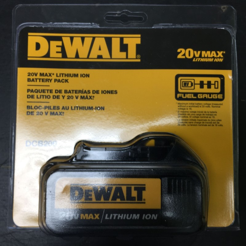 DeWalt DCB200 20V MAX* Lithium Ion Battery Pack (3.0 Ah)