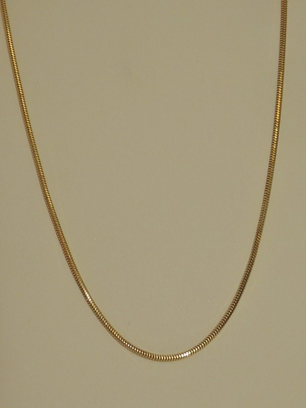 "18"" Gold Snake Chain 14K Yellow Gold 5.6g"