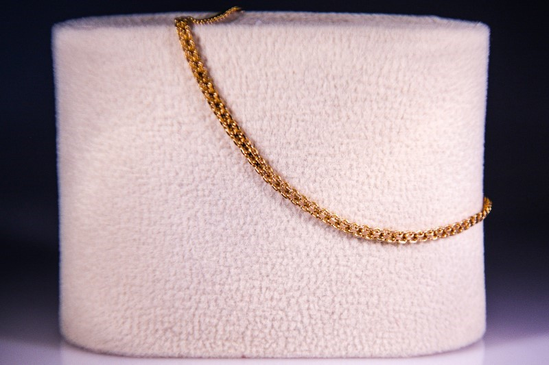 Gold Rope Bracelet 14K Yellow Gold 1.7g