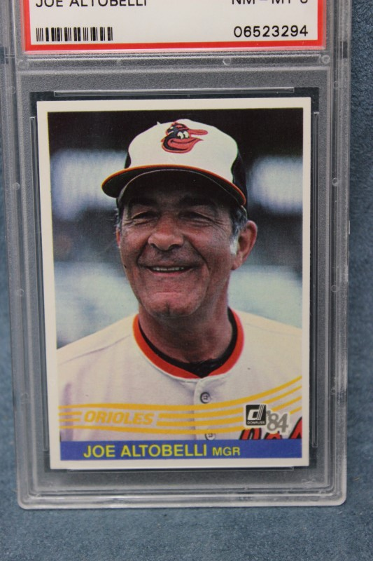 Joe Altobelli 1984 Donruss Baltimore Orioles Manager #88 PSA NM-MT 8
