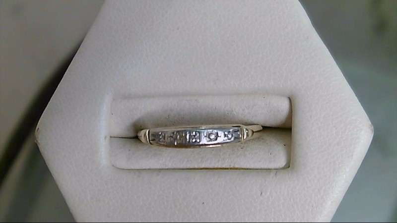 Lady's Diamond Wedding Band 3 Diamonds .015 Carat T.W. 14K Yellow Gold 1.3g