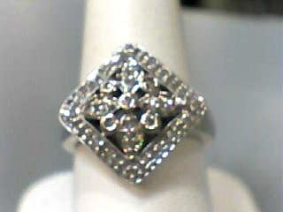 Lady's Diamond Fashion Ring 55 Diamonds .300 Carat T.W. 10K White Gold 2.4dwt