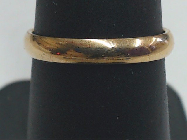 Lady's Gold Wedding Band 10K Yellow Gold 2g Size:7
