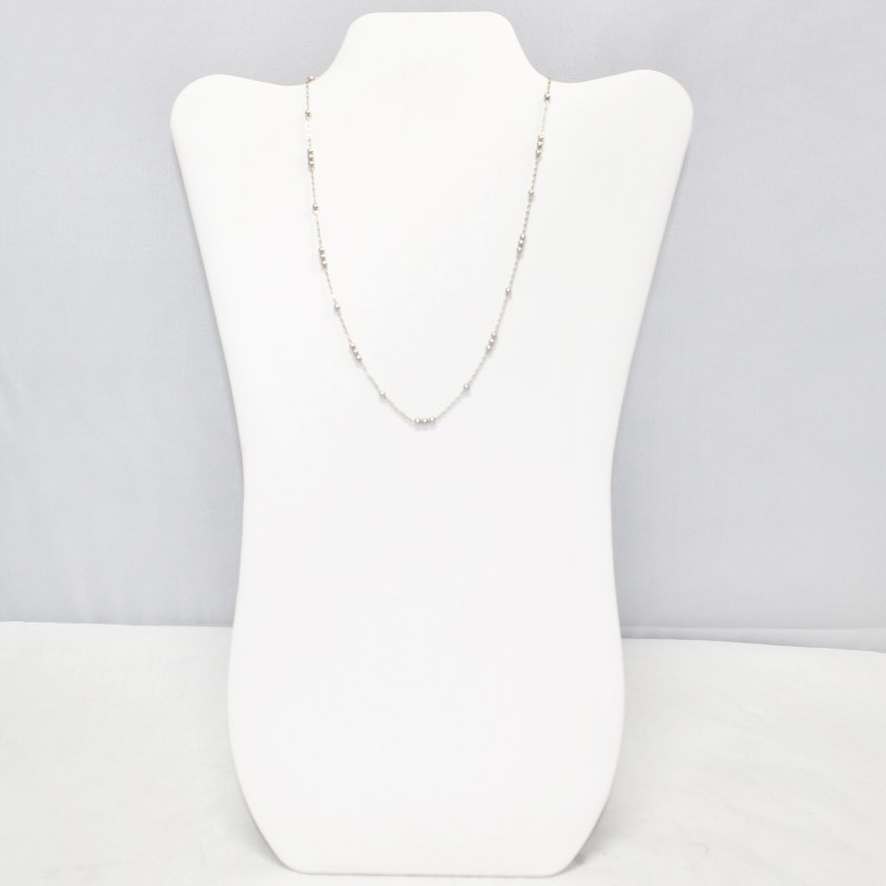 "17"" Sterling Silver Chain and Multi Round Pendant Necklace"