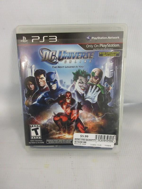 DC Universe Online, PS3