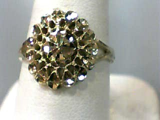 Lady's Gold Ring 18K Yellow Gold 1.1dwt Size:7