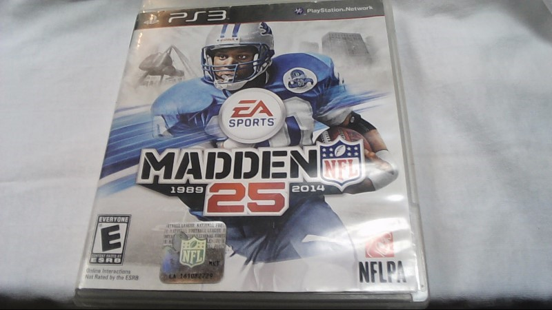SONY Sony PlayStation 3 Game MADDEN 25 - PS3
