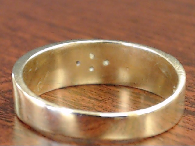 VINTAGE DIAMOND CLUSTER WEDDING RING BAND SOLID REAL 14K GOLD MENS